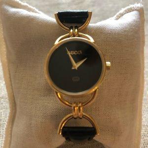 Gucci Gold & Black Watch